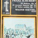 Franz Schubert 36 Waltzes 16 Dances 12 Nobels music cassette tape