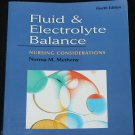 Fluid & Electrolyte Balance Nursing Considerations illness sickness nurse book Norma M. Methenyeatme