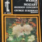 NEW Weber and Mozart Basson Concerti George Zuckerman music cassette tape