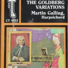 J.S. Bach music NEW cassette tape Goldberg Variations Martin Galling Harpsichord cassette tape