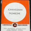 Jonathan Kitzman Trombone music cassette tape