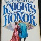 Knights of Honor hardcover epic romance romantic adventure novel book Roberta Gellis