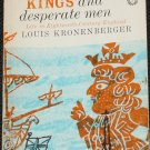 1942 Kings and Desperate Men - history England 1800's 18th century book Louis Kronenberger