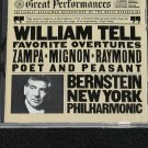 William Tell Favorite Overtues cd Bernstein Philharmonic New York orchestra orchestral music cd