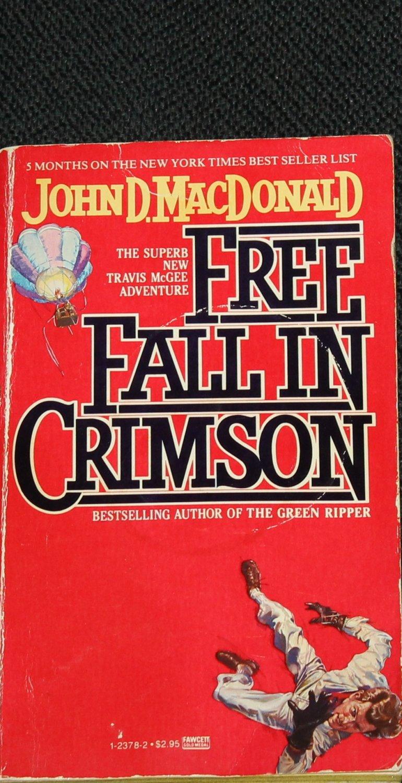 Free Fall in Crimson adventure novel paperback book by John MacDonald