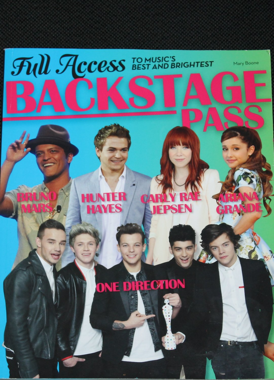 Pass book backstage