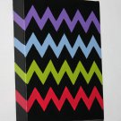 Zig-Zag Painting - new minimalist art chevron painting purple blue green red black painting