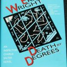 Death By Degrees mystery book by Eric Wright hardcover fiction