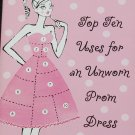 Top Ten Uses For an Unworn Prom Dress teen high school novel book by Tina Ferraro young readers