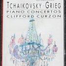 Tchaikovsky Grieg Piano Concertos Clifford Curzon music cassette tape