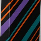 Minimalist home decor stripes - green orange teal black - home accent painting acrylic on canvas