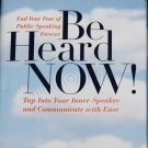 Be Heard Now! - public speaking book by Lee Glickstein self help speech improvement reading