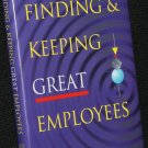 Finding and Keeping Great Employees business book Jim Harris Joan Brannick