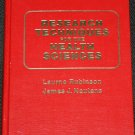Research Techniques For The Health Sciences book Rubinson Nautens researching scientific