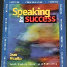 Speaking for Success book by Jean Miculka