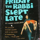 Friday The Rabbi Slept Late - detective murder mystery paperback book by Harry Kemelman