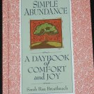 Simple Abundance A Daybook of Comfort and Joy by Sarah Ban Breathnach self-help book