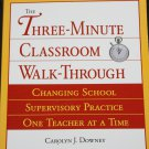 The Three-Minute Classroom Walkthrough Changing School Supervisory Practice - school education book