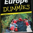Europe for Dummies - travel book - vacation book -  Frommner's traveling guide book