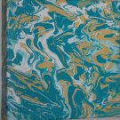 Home or Business Decor Art - marbled  abstract painting - teal white beige yellow minimalism