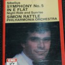Sibelius Symphony No. 5 in E Flat Night Ride and Sunrise - music cassette tape