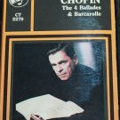 Frederick Chopin cassette tape The 4 Balades & Barcarolle Andy Simon piano
