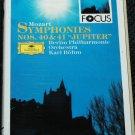 Motzart Symphonies NOS. 4 & 41 Jupiter - Berlin Philharmonic Orchestra - music cassette tape