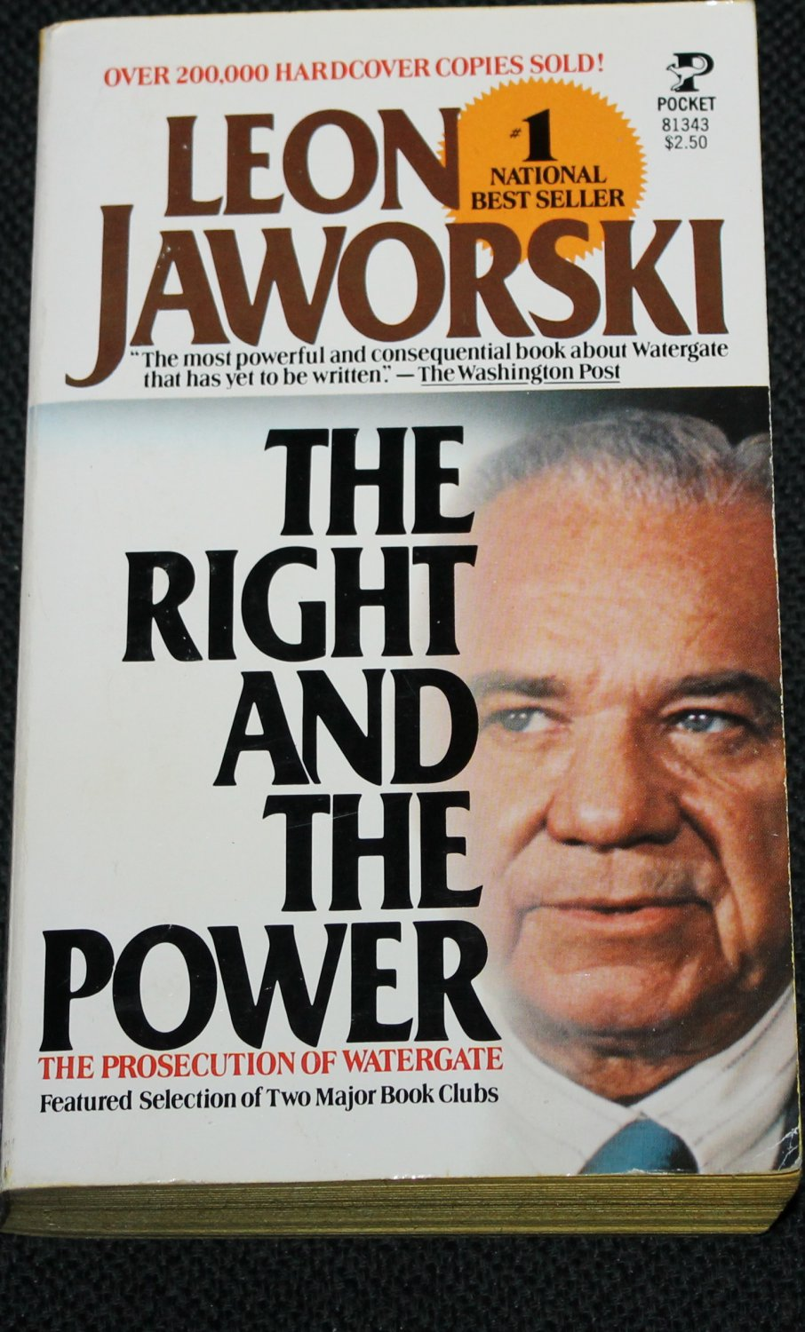 The RIght Hand And The Power - political book politics - Leon Jaworski