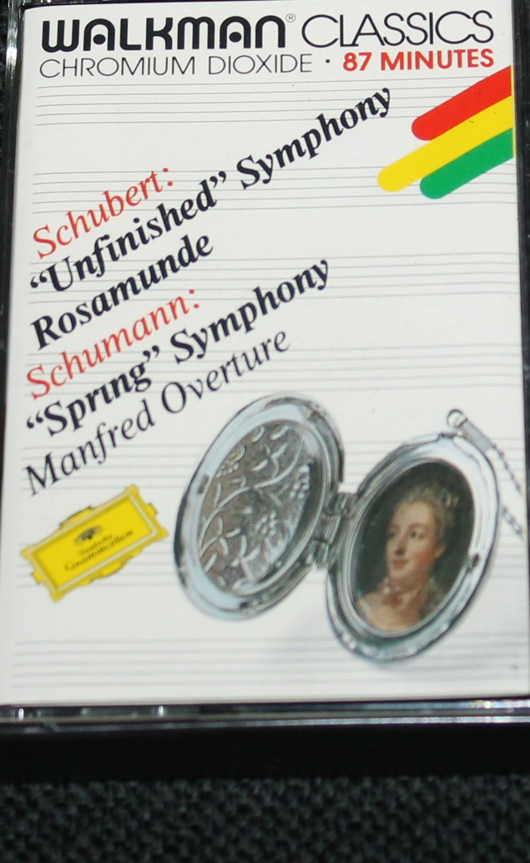 Schubert Unfinished Symphony Rosamunde & Schumann Spring Symphony Manfred Overture music cassette