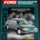 Ford Escort and Mercury Linx 1981 - 1986 Repair Manual - car auto book