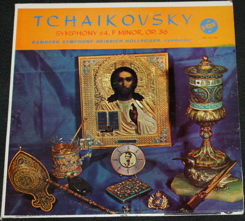 1963 Tchaikovsky Symphony #4 F Minor OP. 36 record - Bamberg Symphony Heinrich Hollreiser, conductor