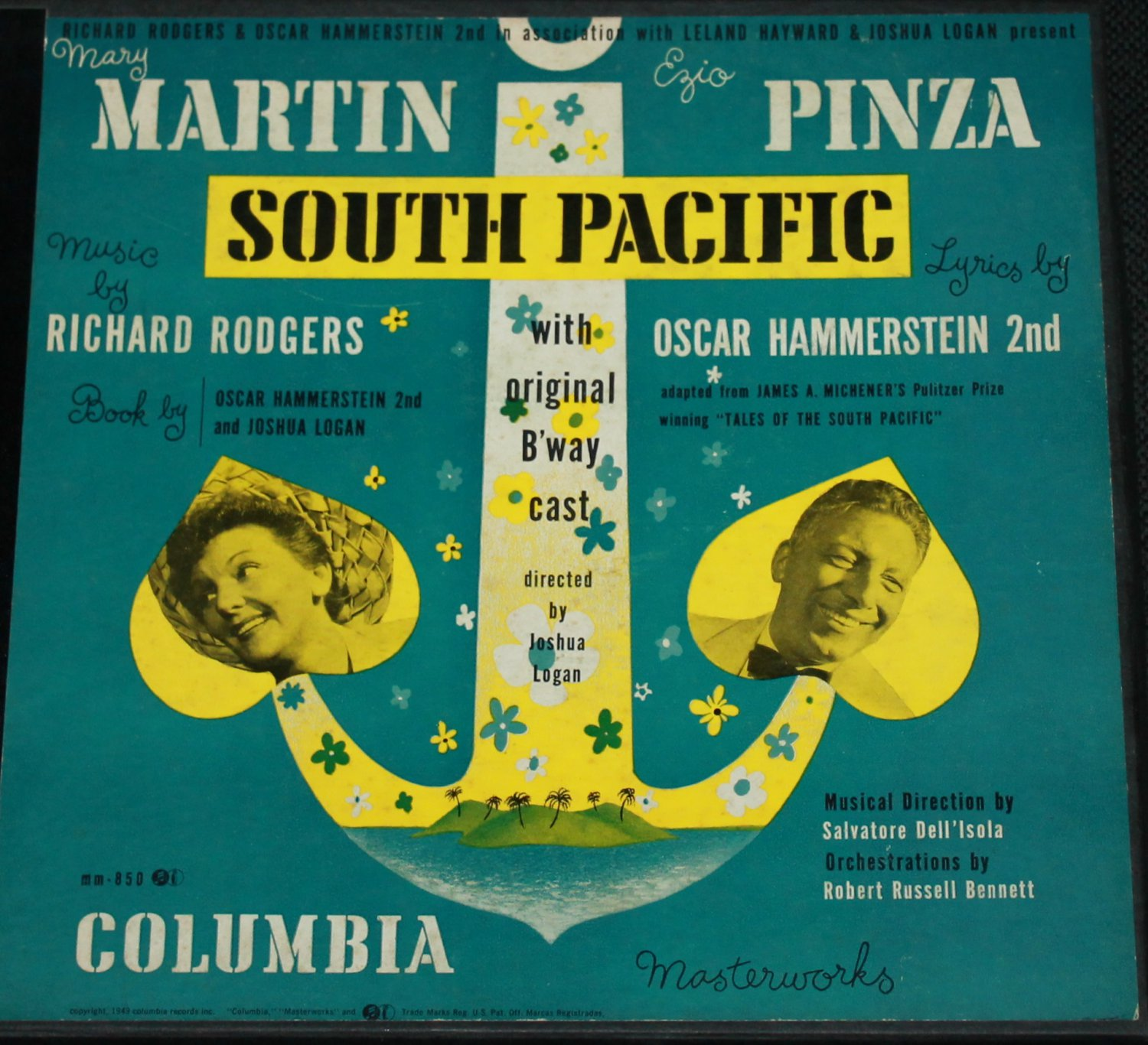 South Pacific Rodgers - Hammerstein 2nd - record box set - Columbia Masterworks Seton vinyl