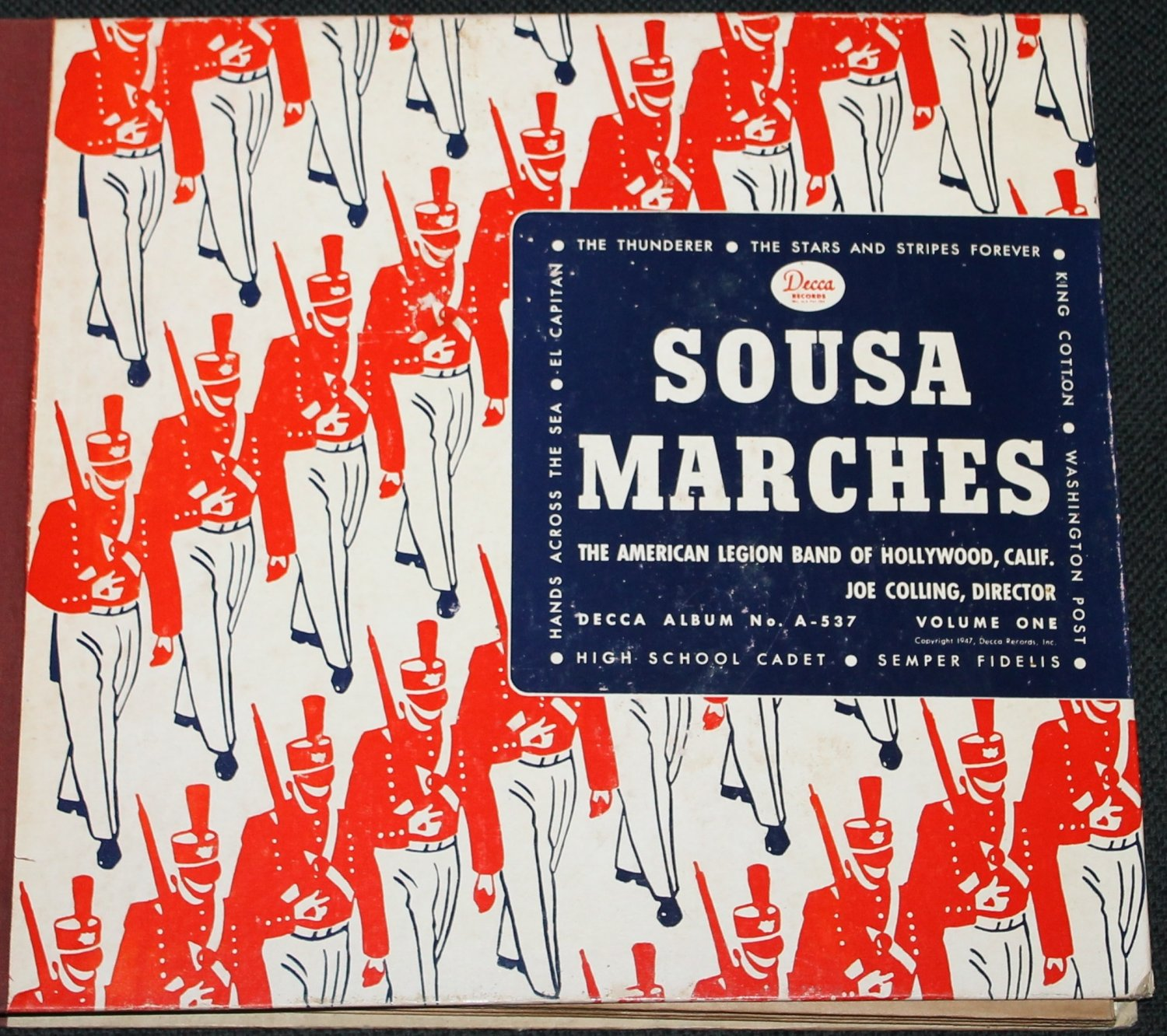 Sousa Marches Volume 1 record set - American Legion Band of Hollywood, CA