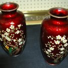 Two Red Oriental Vases