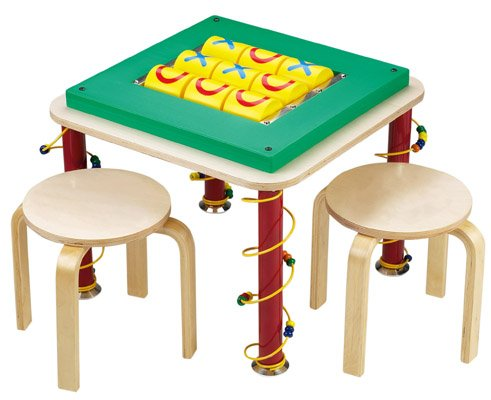 Tic Tac Toe Table with Stools classic game in a new and creative format!