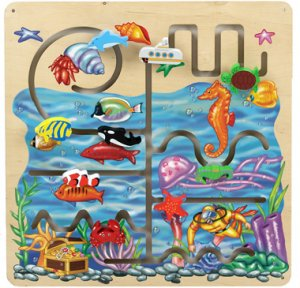 Anatex Sea Life Pathfinder Panel SA6005 decorative and fun 9 hand-painted wooden