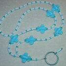 BABY BLUE AIRPLANES~BEADED LANYARD~ID BADGE HOLDER~LANYARDS