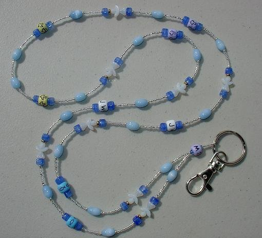 ~WWJD~iNSPIRATIONAL~BEADED LANYARD~ID BADGE HOLDER~LANYARDS