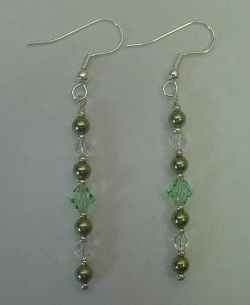 SWAROVSKI PEARL~LIGHT GREEN 2
