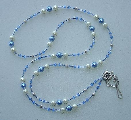 BEAUTIFUL FAUX PEARL~BEADED LANYARD~ID BADGE HOLDER~LANYARDS