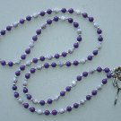 PURPLE MOUNTAIN JADE~BEADED LANYARD~ID BADGE HOLDER~LANYARD