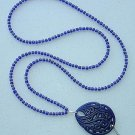 BLUE SWIRL~BEADED LANYARD~ID BADGE HOLDER~LANYARD