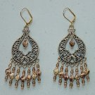 OPAQUE WHITE PICASSO CHANDELIER EARRINGS