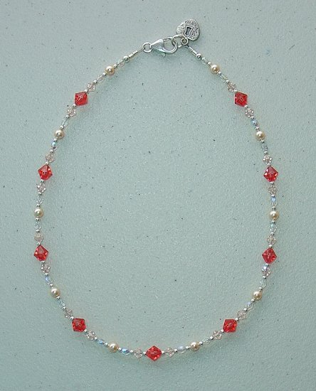 NEW~LIL PRINCESS~SWAROVSKI PADPARADSCHA/SILK~CHILDS NECKLACE