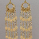 SWAROVSKI VINTAGE~JONQUIL ~14KT GP CHANDELIER EARRINGS