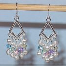 SWAROVSKI PASTELS CHANDELIER EARRINGS
