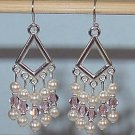 SWAROVSKI VINTAGE ROSE CHANDELIER EARRINGS