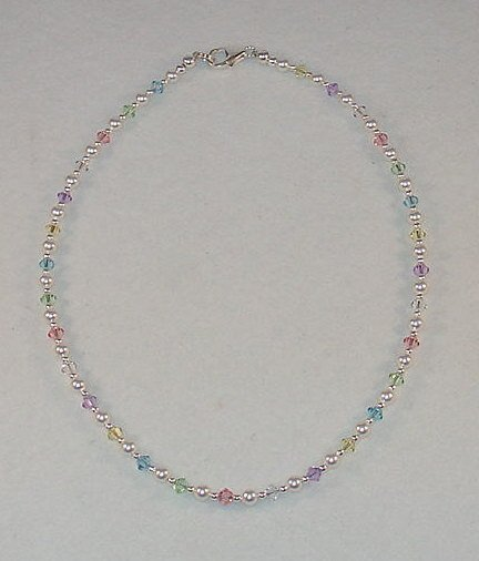 NEW~LIL PRINCESS~SWAROVSKI PASTELS~CHILDS NECKLACE