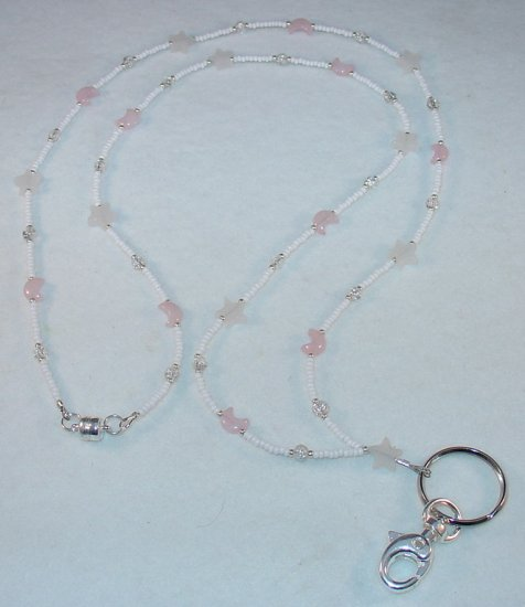 THE MOON & STARS~BEADED LANYARD~ID BADGE HOLDER~LANYARD~BREAK AWAY