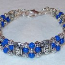 ROYAL BLUE MOUNTAIN JADE~TIBET SILVER BRACELET